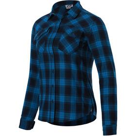 Protective P-Rockabilly Langarm Shirt Damen blau/schwarz